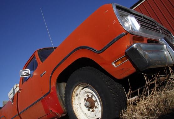 Orange Dodge Pickup